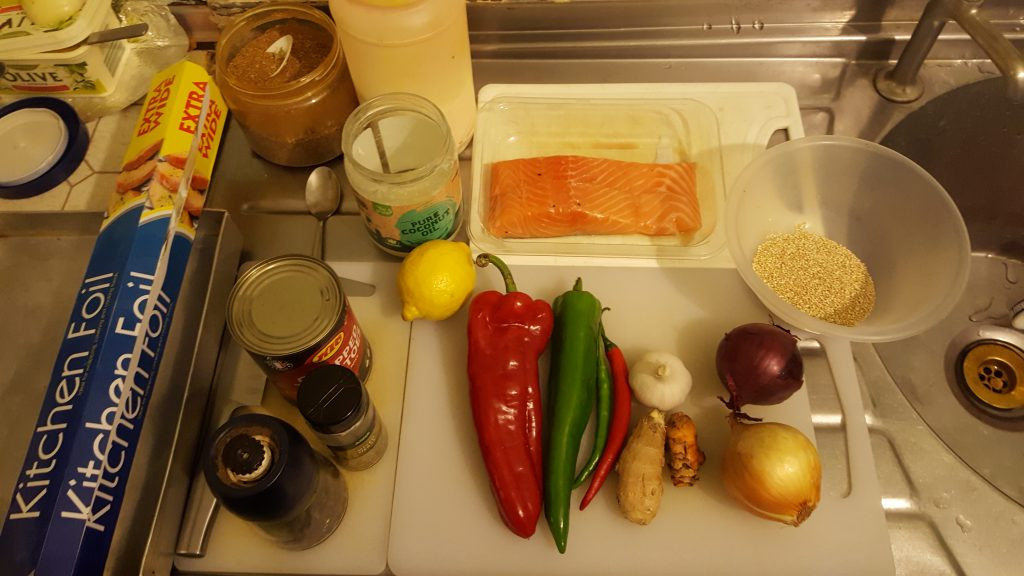 Spiced Up Salmon Ingredients!